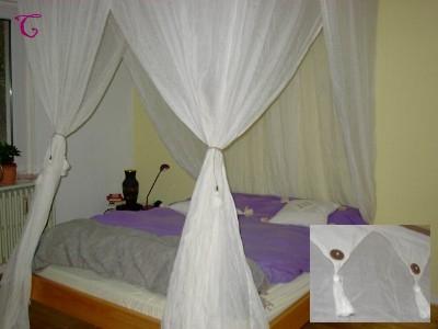 Moustiquaire baldaquin d coration - Moustiquaire baldaquin pour lit double ...